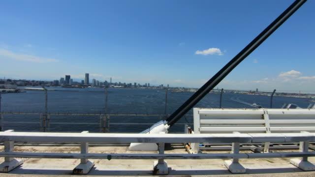 車/横浜ベイスケープから車までのサイドビュー - 車の視点点の映像素材/bロール