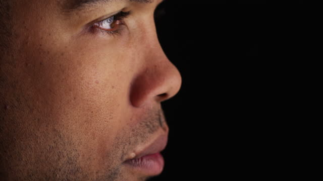 side view of man's face - side view stock videos & royalty-free footage