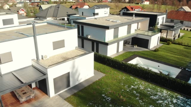 side view of modern houses in a row - townhouse stock videos & royalty-free footage