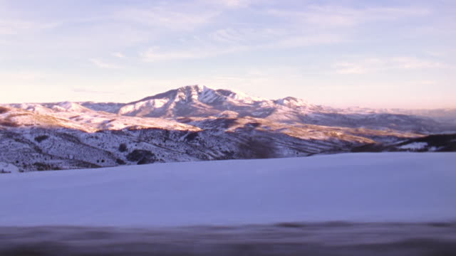WS Side POV View of mountains / Park City, Utah, United States