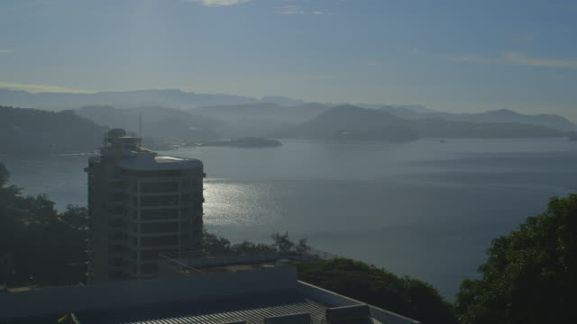 side view of sea shore. - asbestos stock videos & royalty-free footage