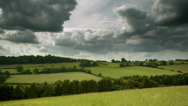 sides of a verdant cotswold valley, uk - cotswolds stock videos & royalty-free footage