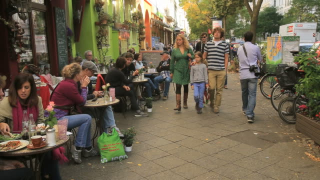 Sidewalk Café at Berlin-Bergmannstrasse, Kreuzberg streets