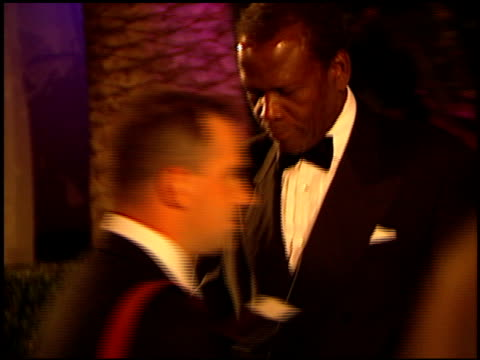 sidney poitier at the 1999 academy awards vanity fair party at morton's in west hollywood, california on march 21, 1999. - 71st annual academy awards stock videos & royalty-free footage