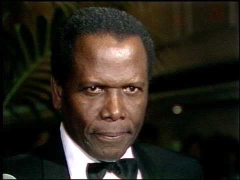 sidney poitier at the afi awards honoring gregory peck at the beverly hilton in beverly hills california on march 9 1989 - gregory peck stock videos and b-roll footage