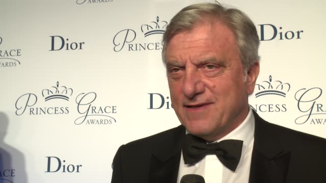 interview sidney toledano talks about continuing the tradition of couture at the 2016 princess grace awards gala at cipriani 25 broadway on october... - cipriani manhattan stock videos & royalty-free footage