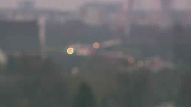 siekierkowska route in warsaw in smog - cable stayed bridge stock videos & royalty-free footage