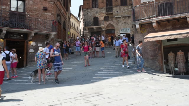 Siena's city center and views of Monte dei Paschi di Siena the oldest surviving retail bank Siena Siena Province Italy on Thursday August 2 2018