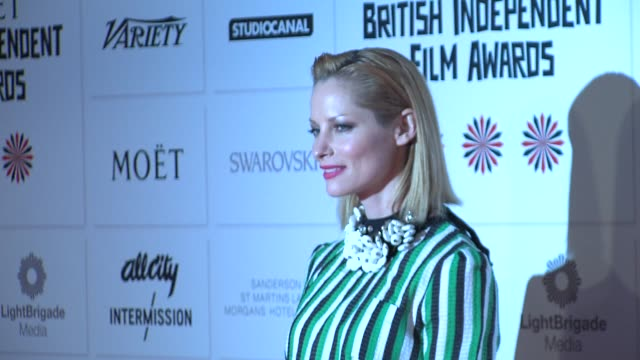 sienna guillory at british independent film awards arrivals at old billingsgate market on december 9, 2012 in london, england. - sienna guillory stock videos & royalty-free footage