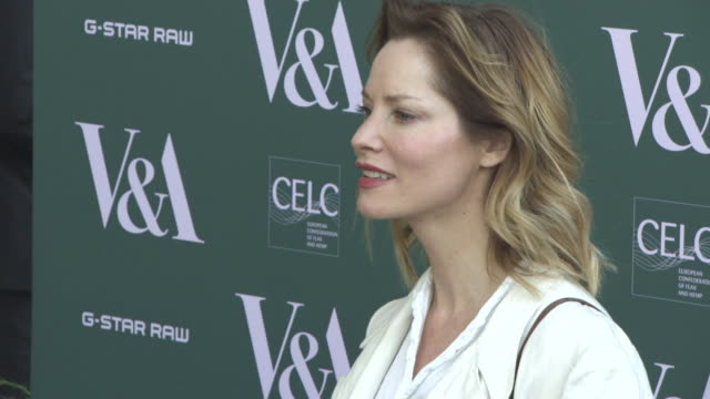 sienna guillory at fashioned from nature vip preview at the v&a on april 18, 2018 in london, england. - sienna guillory stock videos & royalty-free footage