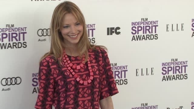 sienna guillory at the 2012 film independent spirit awards - arrivals on 2/25/12 in santa monica, ca. - sienna guillory stock videos & royalty-free footage