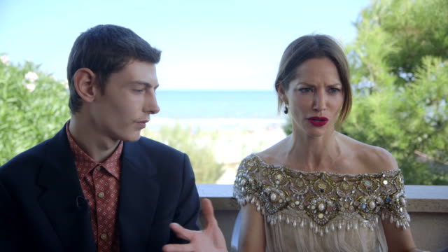 sienna guillory on a new luther season at 'the goob' interviews - 71st venice international film festival at venice days villa on august 28, 2014 in... - sienna guillory stock videos & royalty-free footage
