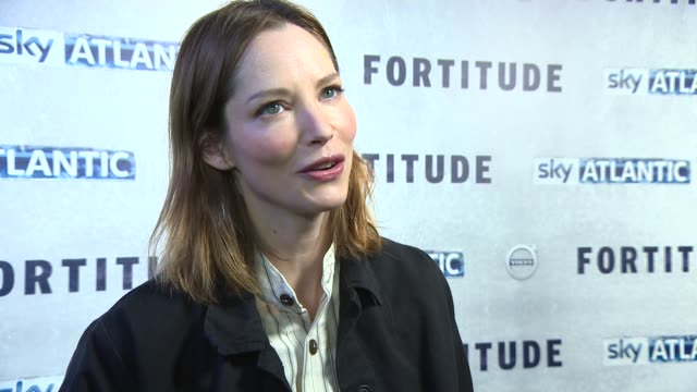 sienna guillory on the scripts being secret, the opportunities in tv over film, working with female actors at 'fortitude' uk film premiere on january... - sienna guillory stock videos & royalty-free footage