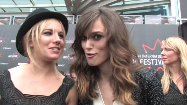 Sienna Miller and Keira Knightley on what they learned from making the film and rumors from the press at the Edinburgh Film Festival Opening at...