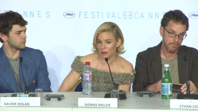 sienna miller, jake gyllenhaal on being an actor on the jury, their strategy on influencing the jury presidents at jury press conference at palais... - 2015 stock videos & royalty-free footage
