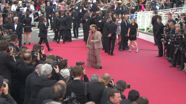 Sienna Miller Xavier Dolan at 'Macbeth' Red Carpet at Palais des Festivals on May 23 2015 in Cannes France