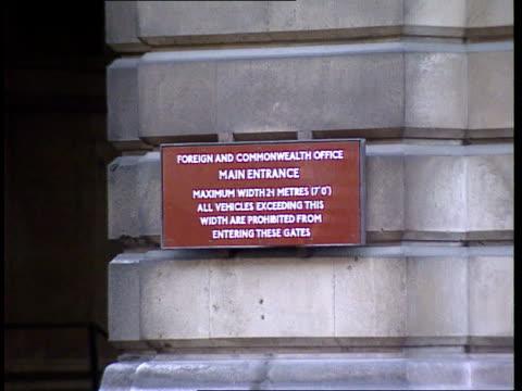 sierra leone civil war lib england london foreign office gv foreign office - sierra leone stock videos & royalty-free footage
