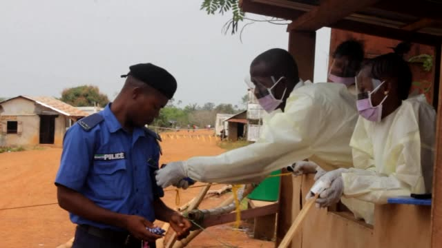stockvideo's en b-roll-footage met sierra leone imposed a three day nationwide lockdown friday for the second time in six months in a bid to prevent a resurgence of the deadly ebola... - bod