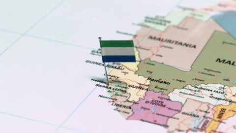 sierra leone with national flag - physical geography stock videos & royalty-free footage