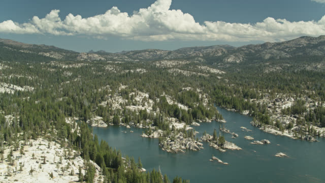 sierra nevada landscape in stanislaus national forest - drone shot - californian sierra nevada stock videos & royalty-free footage