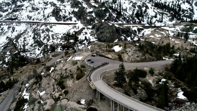 sierra nevada mountains and donner pass - californian sierra nevada stock videos and b-roll footage