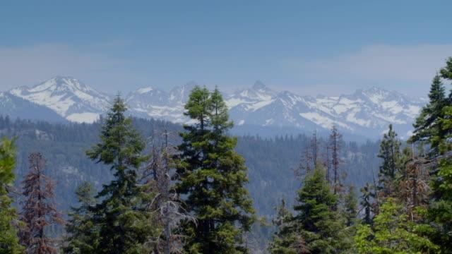ws sierra nevada mountains in california, usa - californian sierra nevada stock videos & royalty-free footage