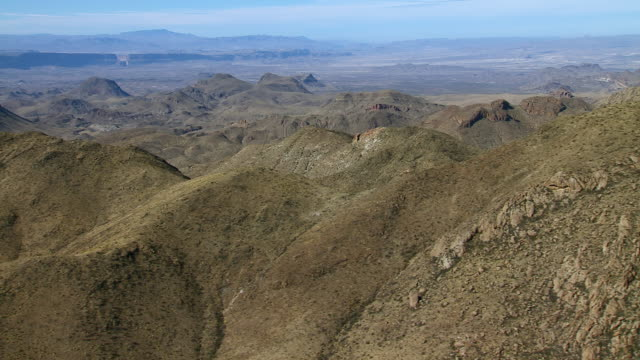 sierra quemada badlands in big bend national park. - basin and range province stock videos and b-roll footage