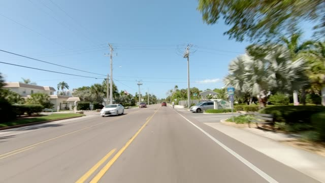 siesta beach xxiii synced series front view driving process plate - moving process plate stock videos & royalty-free footage