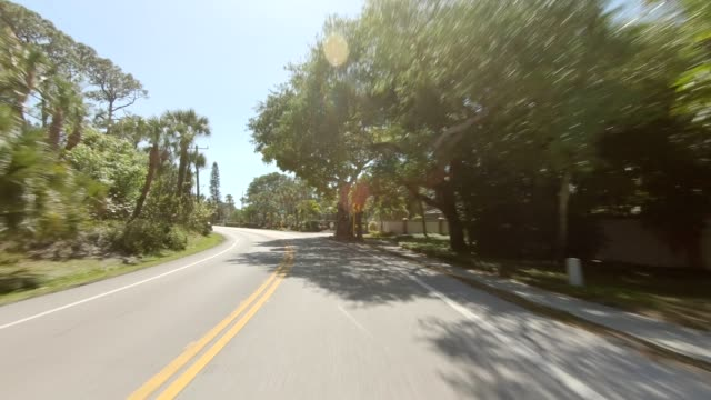 siesta beach xxvi synced series front view driving process plate - driving plate stock videos & royalty-free footage