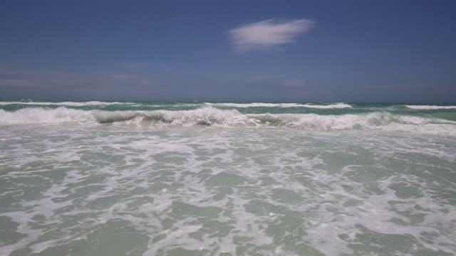 siesta key sarasota beach florida - gulf of mexico stock videos & royalty-free footage
