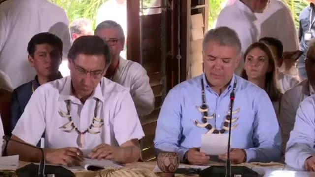 siete de los nueve paises que comparten la amazonia estan reunidos el viernes en colombia para definir urgentemente medidas de proteccion para la... - planeta stock videos & royalty-free footage