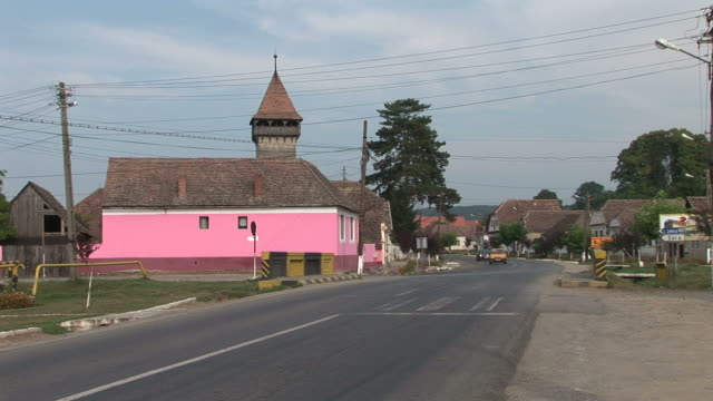 stockvideo's en b-roll-footage met sighisoaraa street in sighisoara romania - târgu mureș