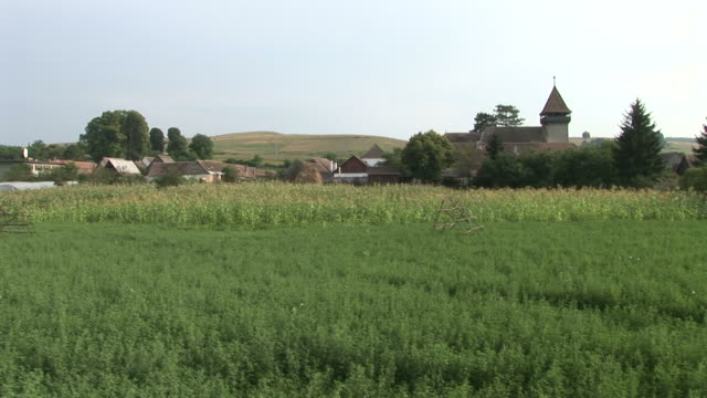 stockvideo's en b-roll-footage met sighisoaraagricultural landscapes in sighisoara romania - târgu mureș