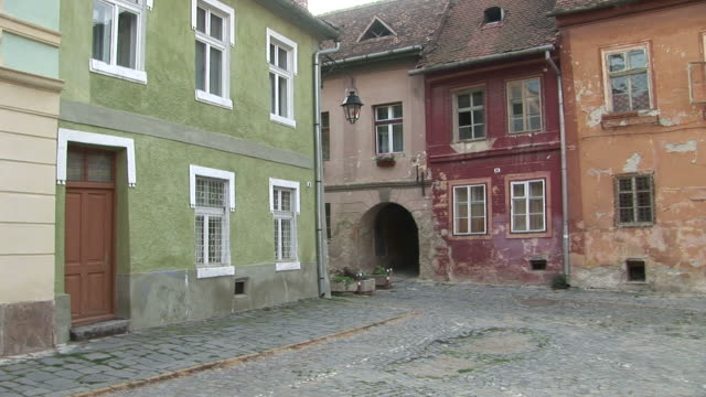 sighisoaracobble stoned pavement sighisoara transylvania romania - mures stock videos & royalty-free footage