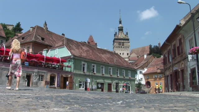 sighisoaraold town sighisoara transylvania romania - sighişoara video stock e b–roll