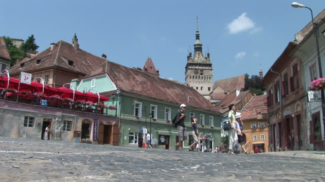 sighisoaraold town sighisoara transylvania romania - mures stock videos and b-roll footage