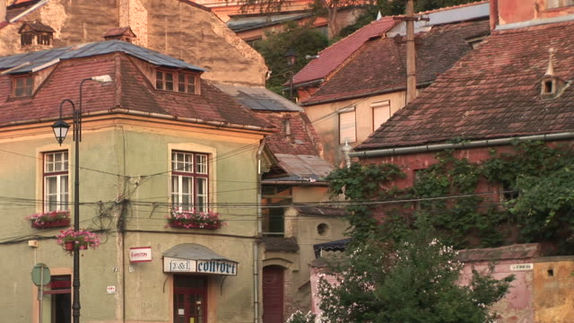 sighisoararesidential area in sighisoara transylvania romania - sighisoara stock videos & royalty-free footage