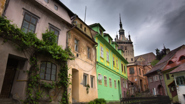 time lapse: sighisoara,romania - mures stock videos & royalty-free footage