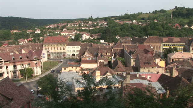 sighisoarasighisoara city in transylvania romania - sighişoara video stock e b–roll
