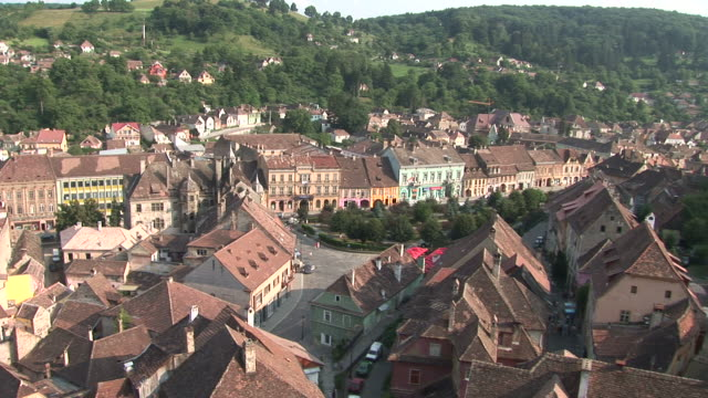 sighisoaratown in sighisoara transylvania romania - mures stock videos & royalty-free footage