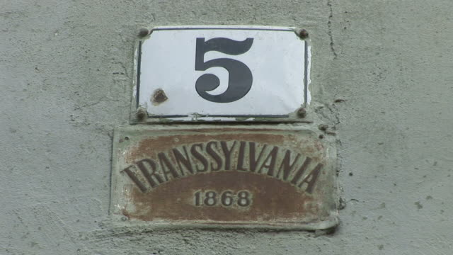 sighisoaratransylvania sign in romania - transylvania stock videos & royalty-free footage