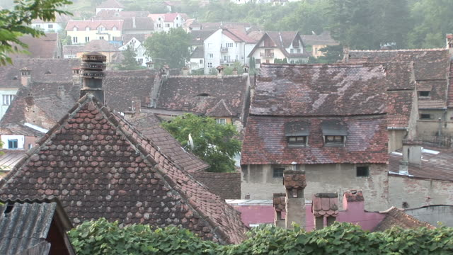 sighisoaraview of residential area in sighisoara transylvania romania - sighişoara video stock e b–roll