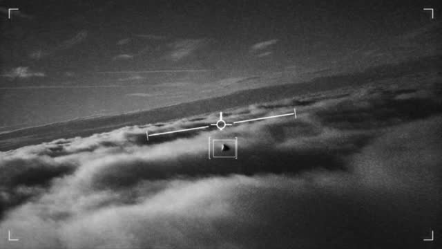 ufo sighting from a military fighter plane - aircraft point of view stock videos & royalty-free footage