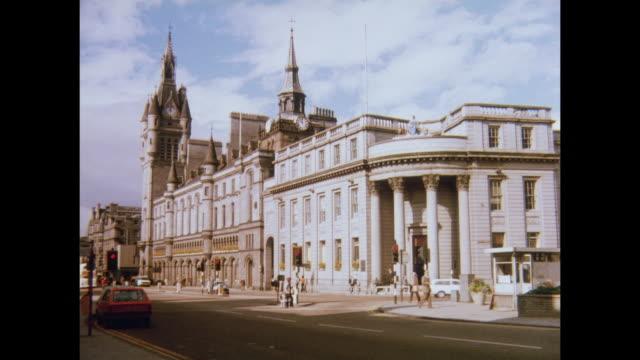 1981 sights of aberdeen, scotland - aberdeen scotland stock videos & royalty-free footage