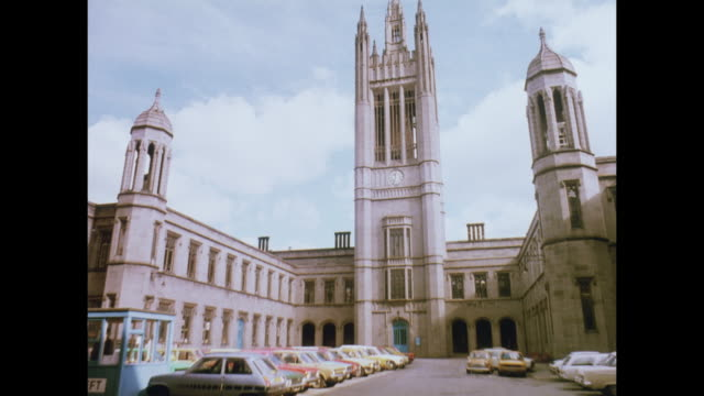 1981 sights of aberdeen - aberdeen schottland stock-videos und b-roll-filmmaterial