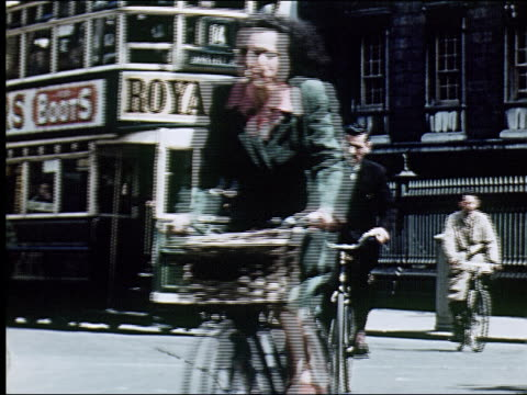1947  sights of dublin - horse family stock videos & royalty-free footage