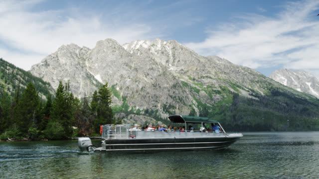 Sightseeing Boats on Jenny Lake, Grand Teton NP, USA