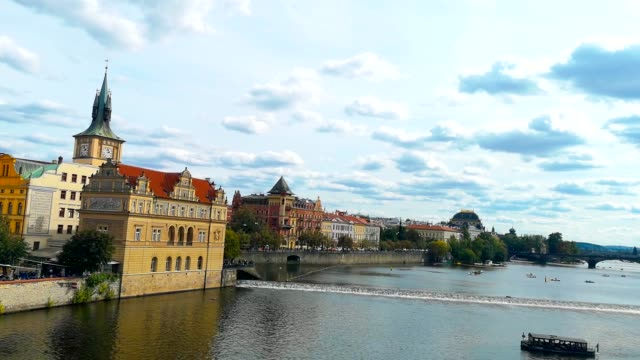 sightseeing prague - charles bridge stock videos & royalty-free footage