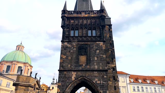 sightseeing prague - old town bridge tower stock videos and b-roll footage