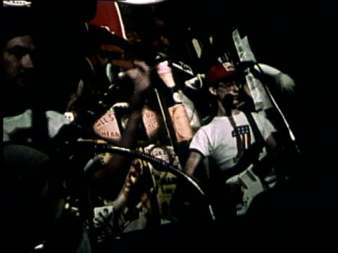 1975 montage sightseers enjoying atlanta night life / atlanta, georgia, united states - entertainment building stock videos & royalty-free footage